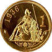 1 Shilling - Edward VIII (Pattern strike) – reverse