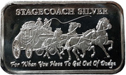 1 oz Silver (Stagecoach Silver) – obverse