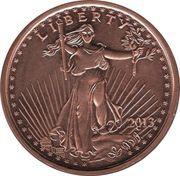 1 oz Copper (Standing Liberty) – obverse