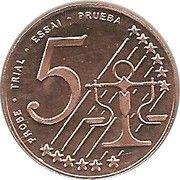 5 Cent (Bulgaria Euro Fantasy Token) – reverse