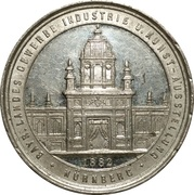 Bavarian industry, trade and art exhibition – obverse