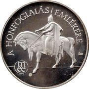 Commemorative coin of Hungarian conquest II (Ag) – obverse