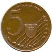 5 Cent (Slovakia Euro Fantasy Token) – reverse