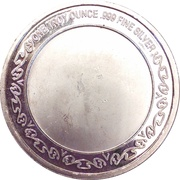 1 oz silver (President 4-4-2) – reverse