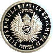 1 oz silver (Silver Bullet Silver Shield - Freedom Girl) – obverse
