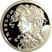 1 oz silver (Silver Bullet Silver Shield - Freedom Girl) – reverse