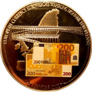 1 Dollar (European Currency - 200 Euro) – reverse