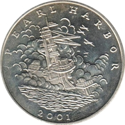 5 Dollars (The Attack on Pearl Harbor) – reverse