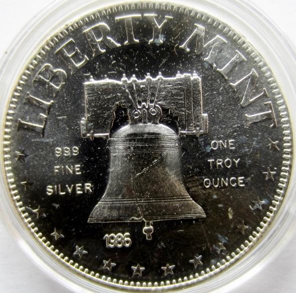 1 Oz Silver Liberty Mint Liberty Bell Exonumia