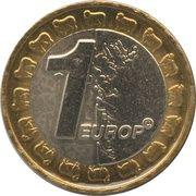 1 Europ (Faroe Islands Euro Fantasy Token) – reverse