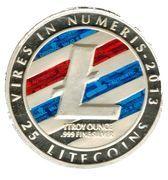 1 oz silver - (Litecoin - Red L) – obverse