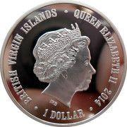 1 Dollar - Elizabeth II (Tiger) – obverse