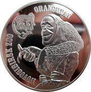 1 Dollar - Elizabeth II (Orangutan) – reverse