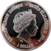 1 Dollar - Elizabeth II (Snow Leopard) – obverse