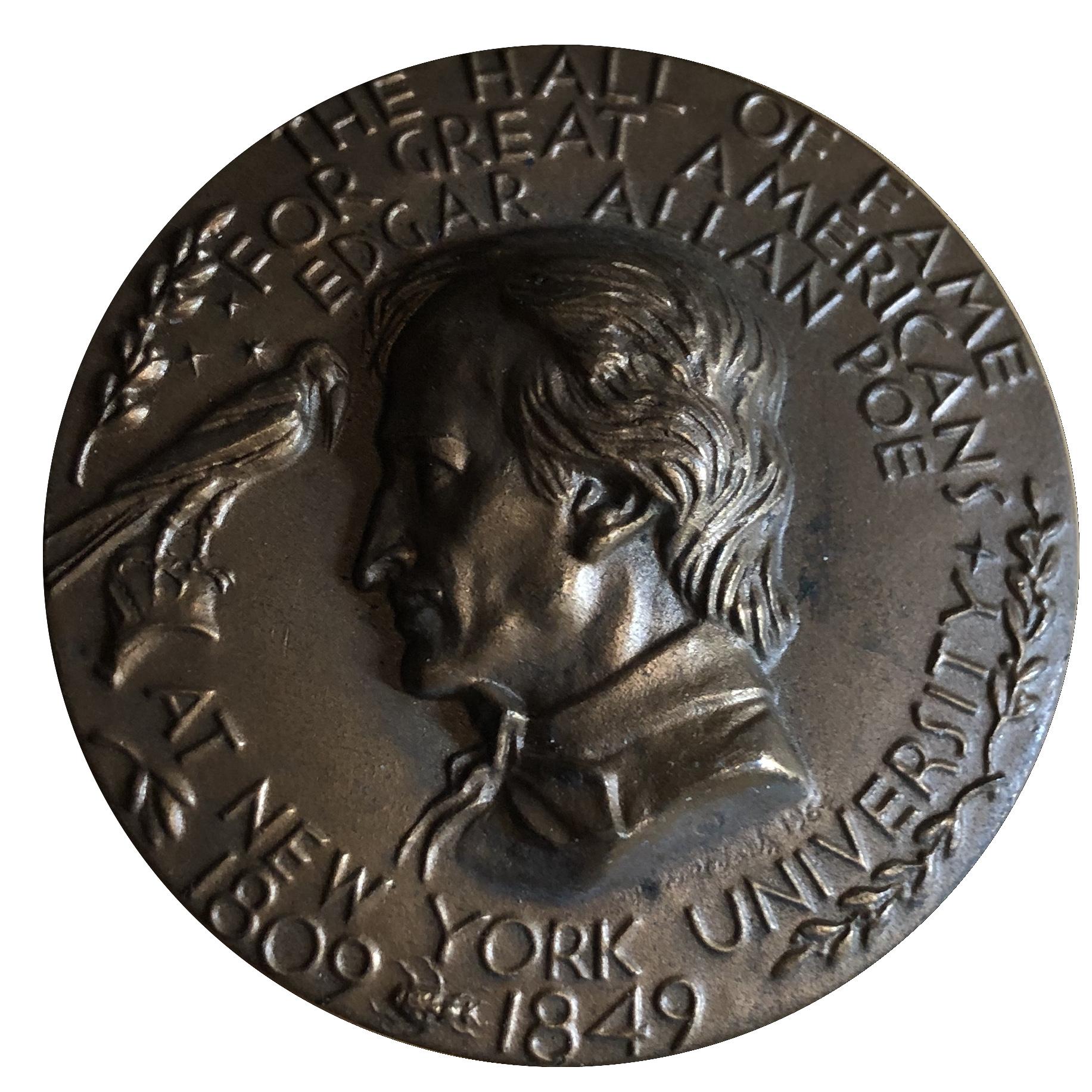 EDGAR ALLEN POE 1809-1849 /THE HALL OF FAME / NEW YORK