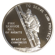 Medal - Ben Franklin FIrefighters – reverse