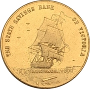 Medal - State Savings Bank of Victoria (Captain James Cook Bicentenary) – reverse
