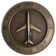 Medal - Delta Airlines (Boeing 727) – reverse