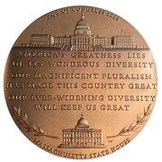Medal - Edward William Brooke – reverse