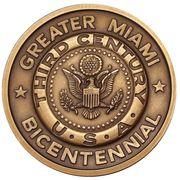 Medal - Greater Miami Bicentennial (Miami, Florida) – obverse
