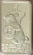 1 oz Silver (PAMP - Lunar Rat) – obverse