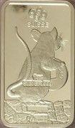 1 oz Silver (PAMP - Lunar Rat) – reverse