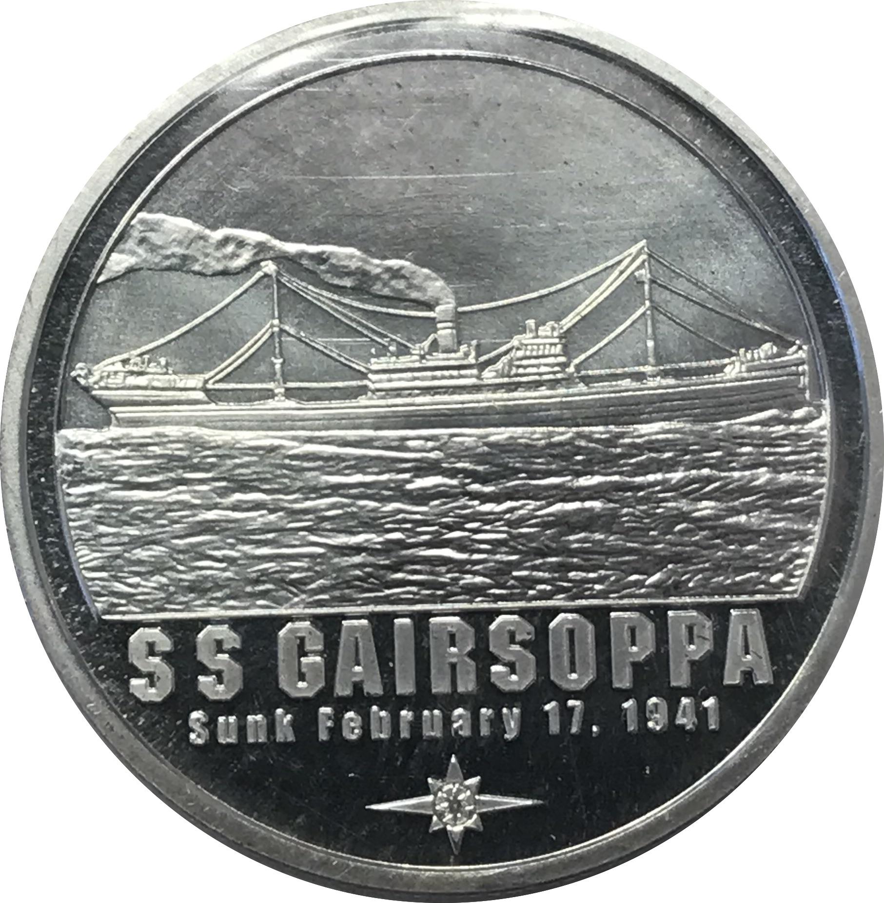 SS Gairsoppa Shipwreck Silver .999 1 oz silver round RARE!