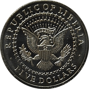 5 Dollars (First Presidential Oath) – obverse