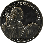 5 Dollars (First Presidential Oath) – reverse