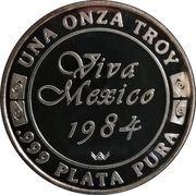 1 oz Silver (Quetzalcoatl Viva Mexico) – reverse