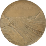 Medal - Digging of Panama Canal – reverse