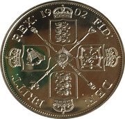 Double Florin - Edward VII – reverse