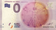 0 euro (Leonard De Vinci) – obverse