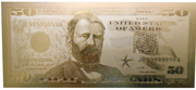 50 Dollars (gold plated) – obverse
