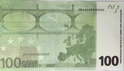 100 euros - Movie Money (première série) – reverse