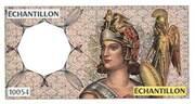 Échantillon type Athéna à droite - 50 Francs QUENTIN de la TOUR – obverse
