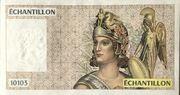 Échantillon type Athéna à droite - 10103 (format 100 Francs Delacroix) – obverse