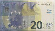 20 euros - Prop Copy (série Europa) – reverse