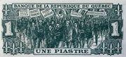 1 Piastre (Banque De La République Du Québec) – reverse