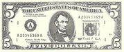 5 Dollars (Minature) – obverse