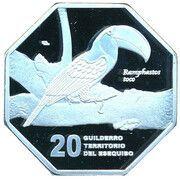 20 Guilderro (Toco toucan) – reverse