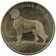 1 Franc (Irish Red Setter) – reverse
