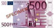 500 EURO SPECIMEN – obverse