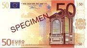 50 EURO SPECIMEN GRECE – obverse