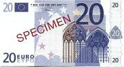 20 EURO SPECIMEN GRECE – obverse