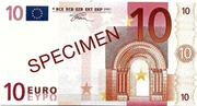 10 EURO SPECIMEN GRECE – obverse