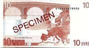 10 EURO SPECIMEN GRECE – reverse