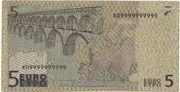 5 EURO SPECIMEN GRECE – reverse