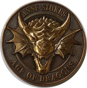 Golden Draxon (Anne  Stokes Age of Dragons Coin Series) – obverse
