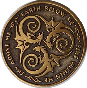 Golden Draxon (Anne  Stokes Age of Dragons Coin Series) – reverse
